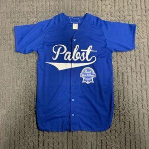 Custom Pabst Blue Ribbons Baseball Jersey